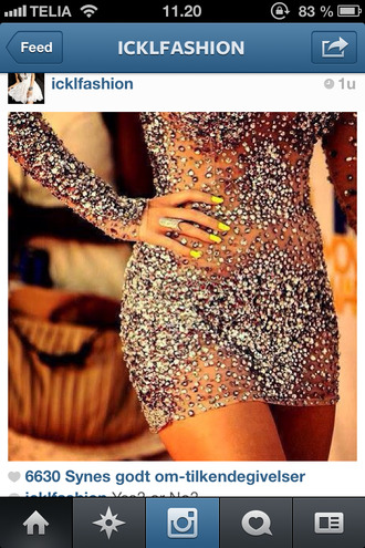 dress sparkling dress