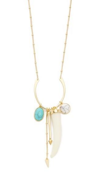 boho long necklace pendant gold turquoise jewels