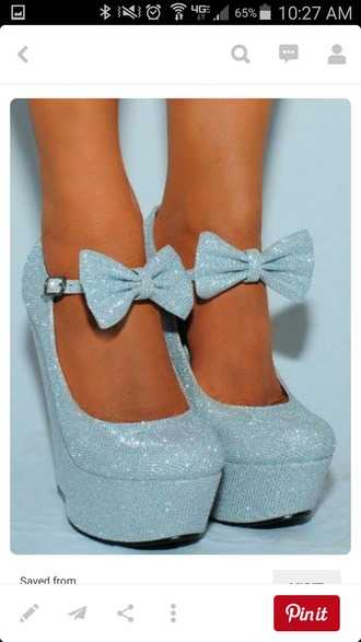 shoes bow heels wedges