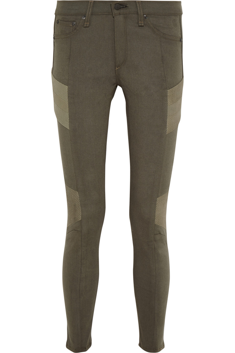 Rag & bone JEAN Halifax paneled low-rise skinny jeans – 48% at THE OUTNET.COM