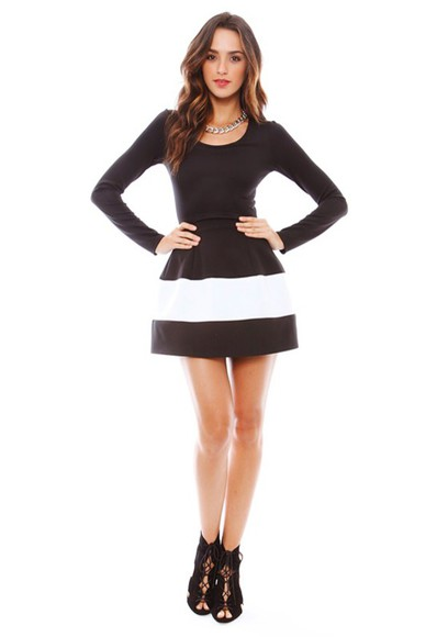 stripes long sleeves marylin marilyn dress