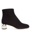 Embellished block-heel velvet boots