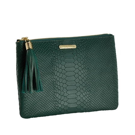 Emerald All in One Bag | Embossed Python Leather | GiGi New York