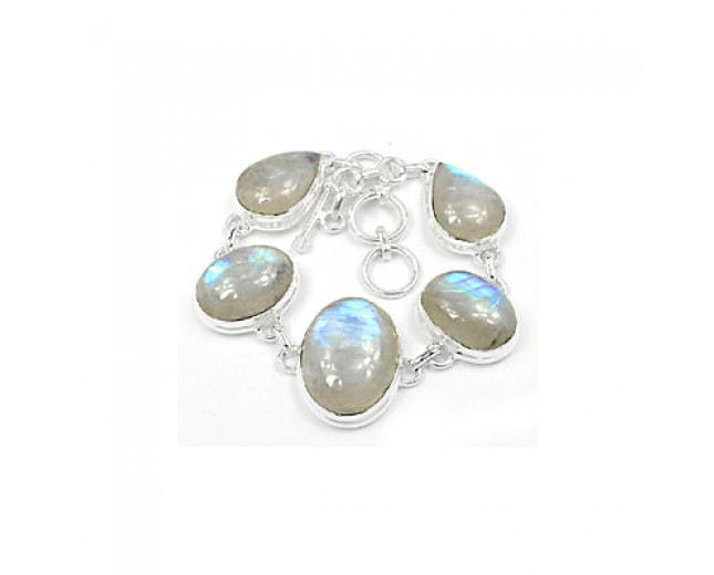 Beautiful 925 sterling silver Moonstone Bracelet