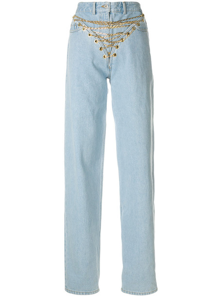 Y / Project jeans high waisted jeans high waisted high women cotton blue