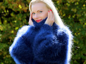 sweater,hand,knit,mohair,turtleneck,jumper,cardigan,angora,cashmere,alpaca,supertanya,blue,fluffy