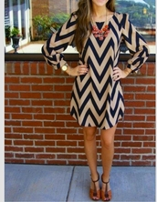 dress,black,camel,long sleeve dress,chevron,blouse,nude,statement necklace,chevron dresses,tan and navy chevron dress,blue and cream,cheveron,short party dresses,high-low dresses,smart,zigzag pattern,blue and white