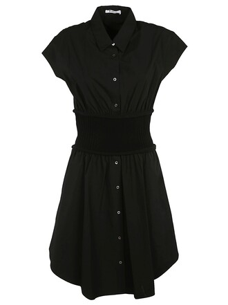 dress shirt dress black