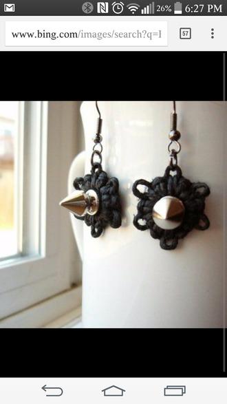 jewels hemp spike earrings hemp spikes jewelry earrings grunge jewelry