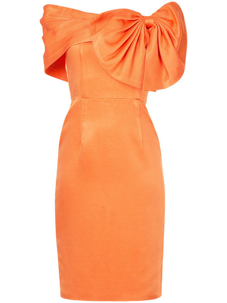 dress bow dress bow women silk yellow orange
