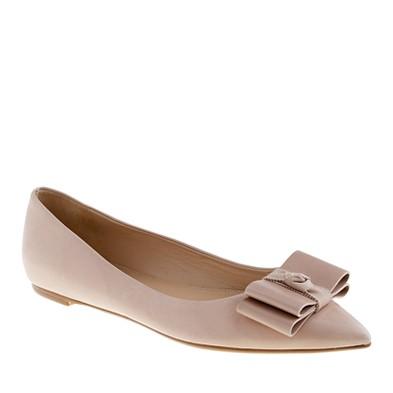 Viv bow flats - flats - Women's shoes - J.Crew