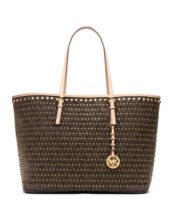 MICHAEL Michael Kors  Medium Jet Set Studded Travel Tote - Michael Kors