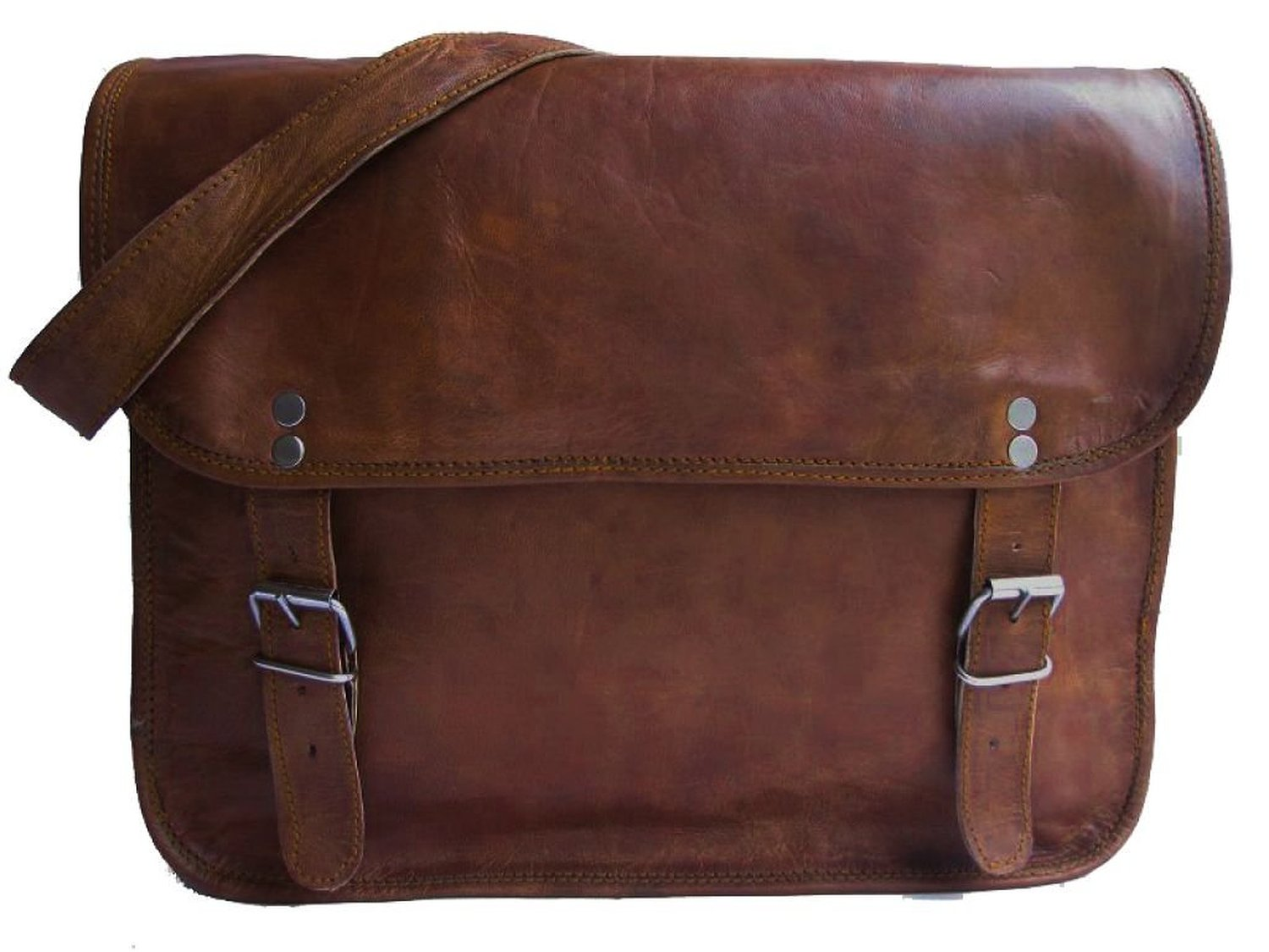 Gusti Leather Genuine Satchel Messenger Shoulder Bag Handbag Vintage College Leisure Bag Vintage Unisex Rich Brown M2: Handbags: Amazon.com