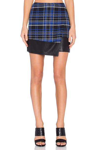 Lovers + Friends skirt wrap skirt blue