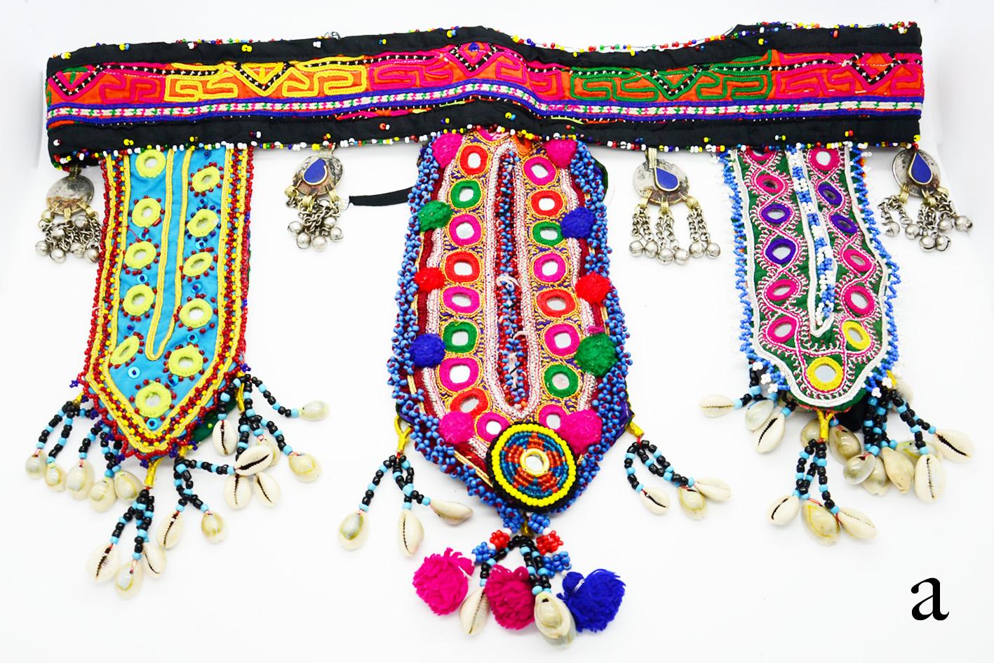 Vintage kuchi ➳ ooak belt selection