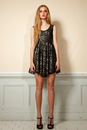dress,black,gold,short