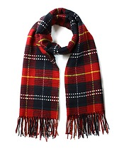 Scotland Check Fringe Scarf in Red