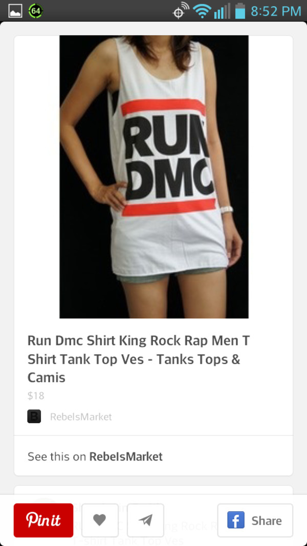shirt run dmc muscle tee