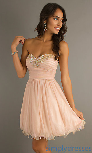 Short Strapless Prom Dresses, Pink Short Dresses - Simply Dresses