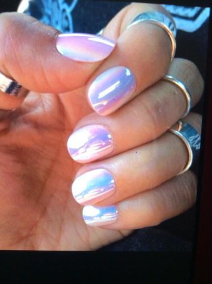 pearl nail polish shiny