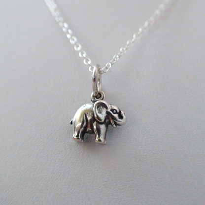 Tiny Elephant Necklace - 925 Sterling Silver