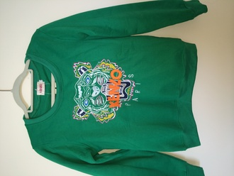 sweater kenzo green tiger sweater green sweater gray tiger print top