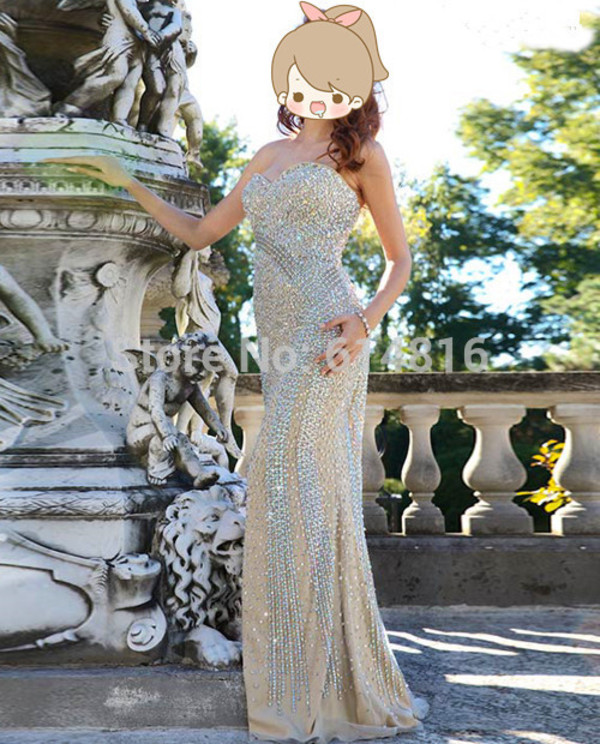 prom dress gorgeous prom dress crystals beaded prom dress evening dress expensive dress dress