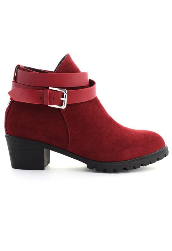 chicwish faux suede ankle boots