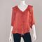 3/4 sleeve ruffle blouse in autumn orange | shop ishara