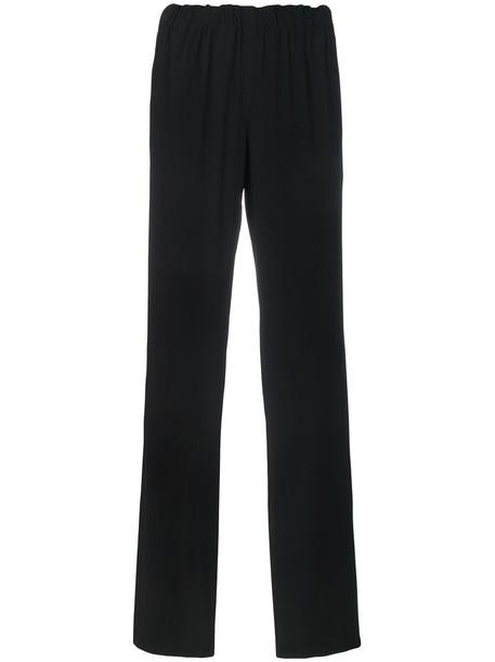 Paco Rabanne - straight-leg tailored trousers - women - Spandex/Elastane/Viscose - 40, Black, Spandex/Elastane/Viscose