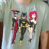 t-shirt,stylin online,batgirl,harley quinn,poison ivy