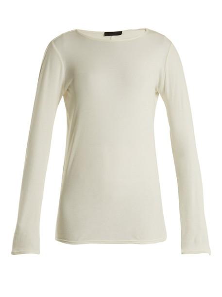 The Row t-shirt shirt cotton t-shirt t-shirt cotton top