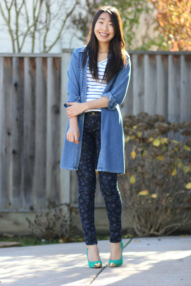 dress jacket joyful outfits t-shirt jeans shoes denim vest