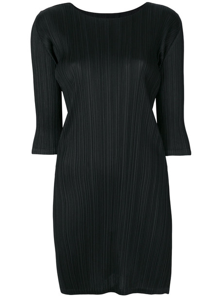 Pleats Please By Issey Miyake dress pleated dress pleated women black