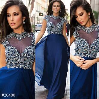 dress prom dress cute blue dress blueandblacknikejersey aqua blue lace flowers