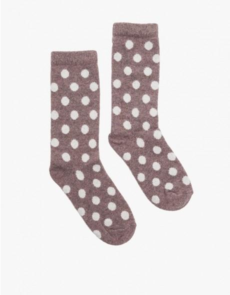Bea polka dot crew socks