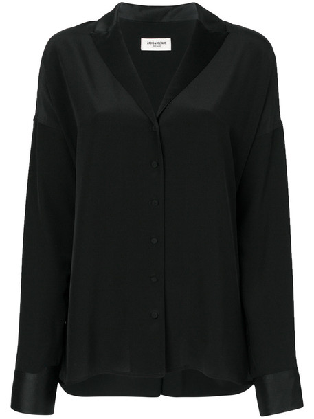 Zadig & Voltaire shirt women black silk top