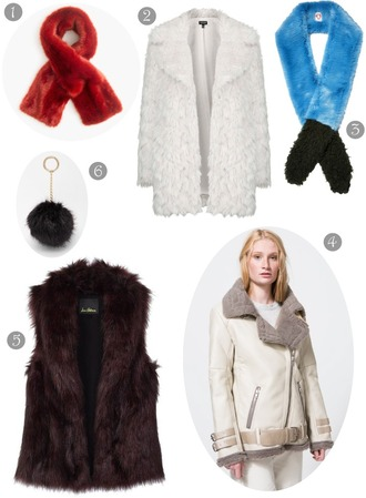 district of chic blogger fuzzy coat fur scarf fur vest shearling jacket