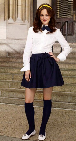 gossip girl blair waldorf leighton meester cute outfits skirt