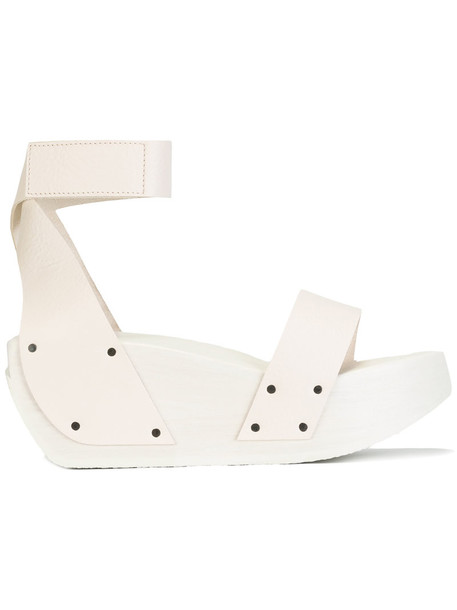 bd77efb964a Trippen Trippen - Gleam platform sandals - women - Leather wood rubber - 37