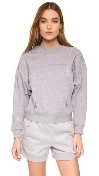 sweatshirt pearl white grey sweater