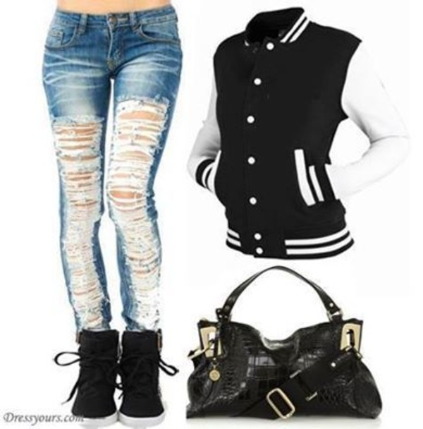 jeans blue skinny ripped jeans skinny jeans jacket bag