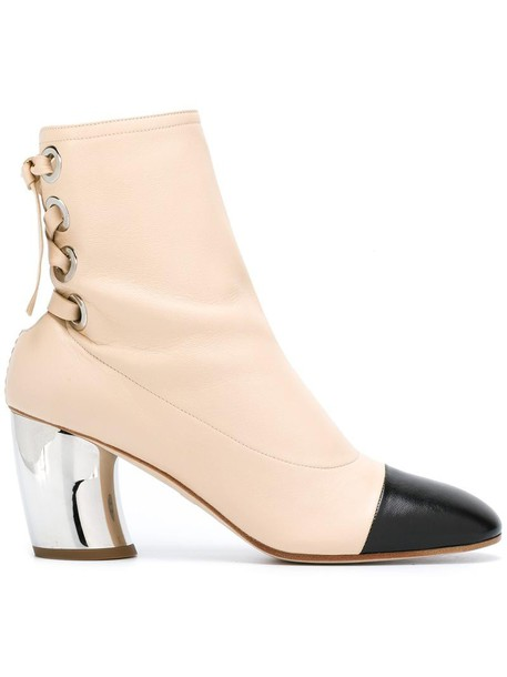 Proenza Schouler women boots ankle boots leather nude shoes