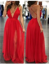 dress,red,red dress,red prom dress,long red dress,beautiful,gorgeous dress,ebay,i need this help,valentine's day