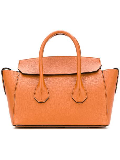 Bally women leather brown bag