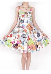 50s style,vintage dress,Pin up,swing dress,printed dress,halter dress,sexy dress,streetstyle