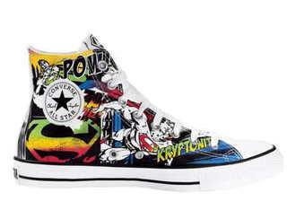 converse superman pop art