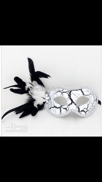 hair accessory mask masquerade mask masquerade ball mask black and white