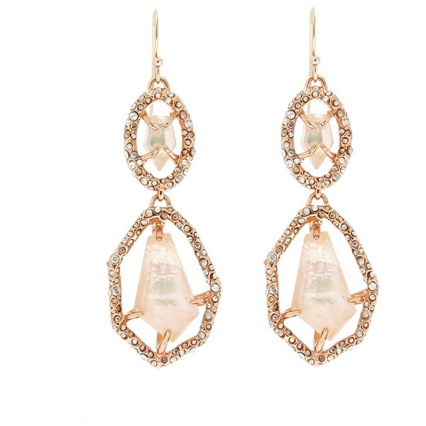 Alexis Bittar Bel Air Peach Morganite Double Drop Earrings - Polyvore