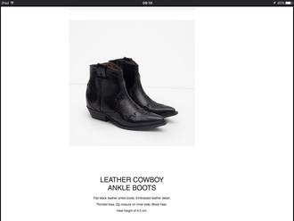 shoes black cowboy boots